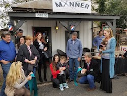 Männer Salon's 1 Year Annivesary Ribbon Cutting Photo
