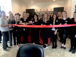 Tres Bella Salon Grand Reopening Ribbon Cutting Photo