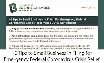 10 Tips to Small Biz in Filing for Emergency Fed COVID-19 Crisis Relief