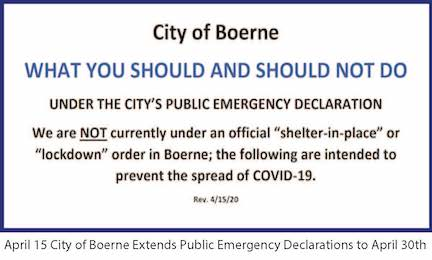 April 15 COB Extends Public Emergency Declaration