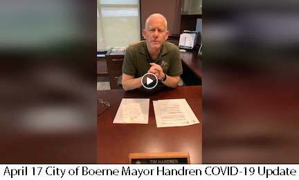 April 17 City of Boerne Mayor COVID-19 Update Image