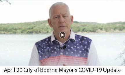 April 20 City of Boerne Mayor COVID-19 Update Video Image