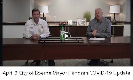April 3 City of Boerne Mayor Handren COVID-19 Update Video Image