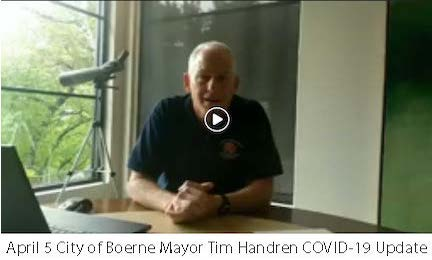 April 5 City of Boerne Mayor COVID-19 Update Image