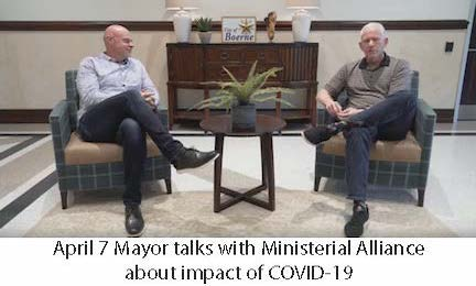 April 7 Mayor talks to Ministerial Alliance on Impact of COVID-19