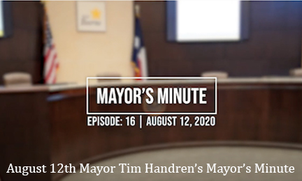 August 12 Mayor's Minute Video Link Image