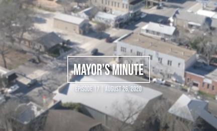 August 26 Mayor's Minute Video Image