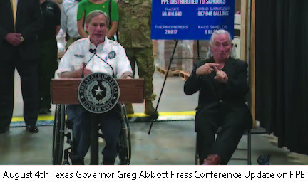 August 4 TX Governor Press Conf PPE Update