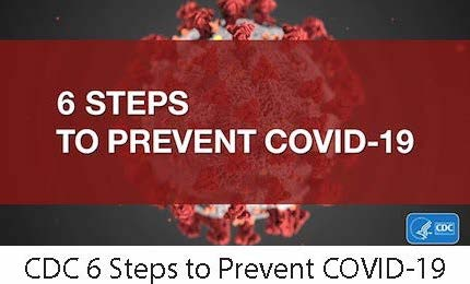 CDC 6 Steps to Prevent COVID-19 Image