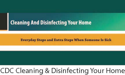 CDC Cleaning & Disinfecting Your Home Link