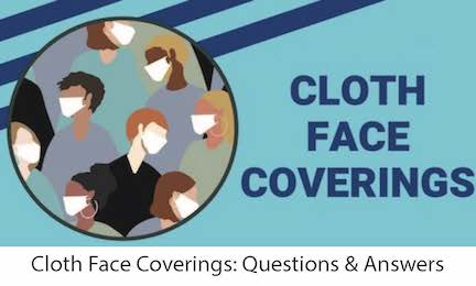 Cloth Face Coverings Q&A Image Link