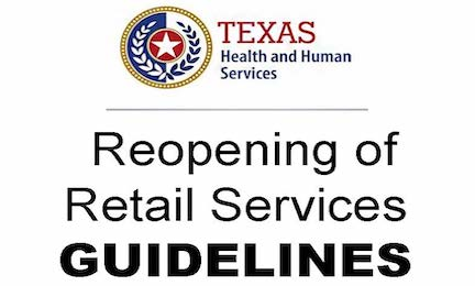 DSHS Guidelines for Reopening of Retail Services