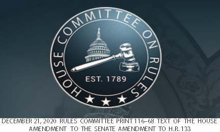 Dec 21 2020 Rules Comm House Amendment HR 133