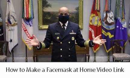 How to Make a Facemask at Home Video Image