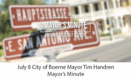 July 8 Mayor Handren Mayor's Minute Video