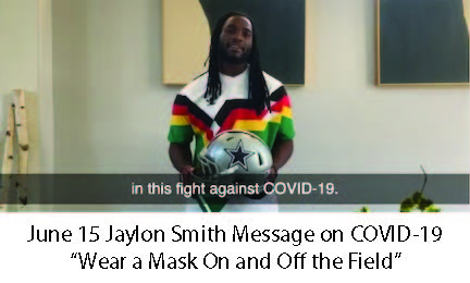 June 15 Jaylon Smith COVID19 Message