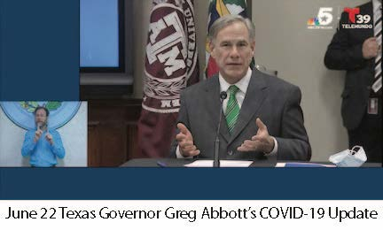 June 22 TX Governor Abbott COVID-10 Update