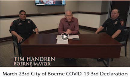 March 23 3rd City of Boerne Declaration Image
