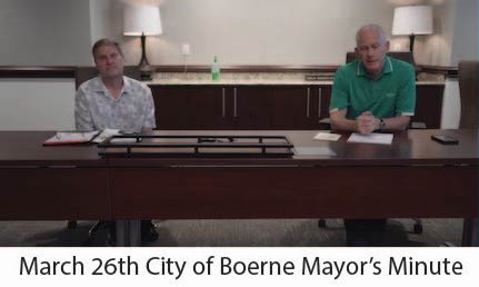 March 26 Mayor's Minute Message