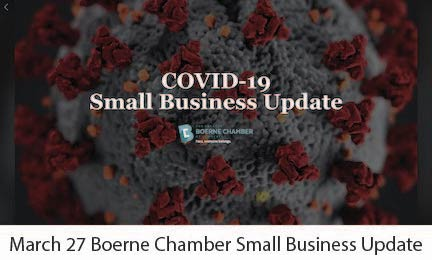 March 27 Boerne Chamber Small Business Update
