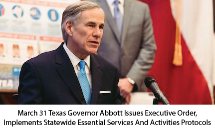 March 31 Texas Governor Issues Executive Order
