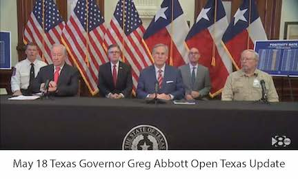 May 18 TX Governor Abbott Open Texas Update