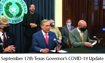 Sept 17 TX Governor Abbott's COVID-19 Update