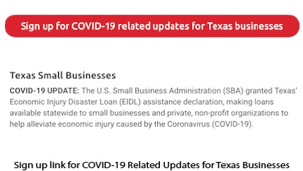 Sign Up for COVID-19 Updates Email Link