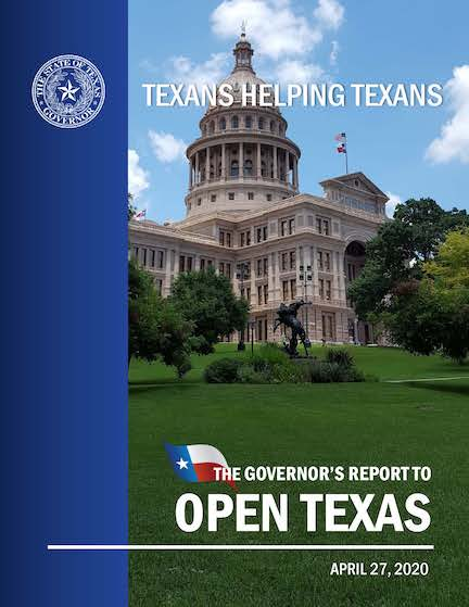Texas Governor Open Texas Guide Cover