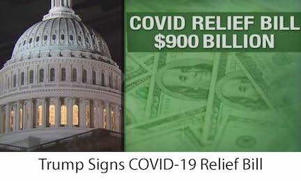 Trump Signs COVID Relief Bill 900 B