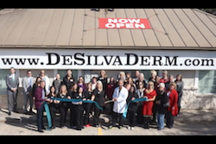 DeSilva Dermatology's New Location Ribbon Cutting Photo