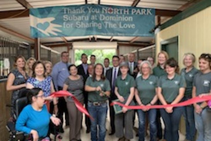 Open T.R.A.I.L. Ranch's New Barn Ribbon Cutting Photo
