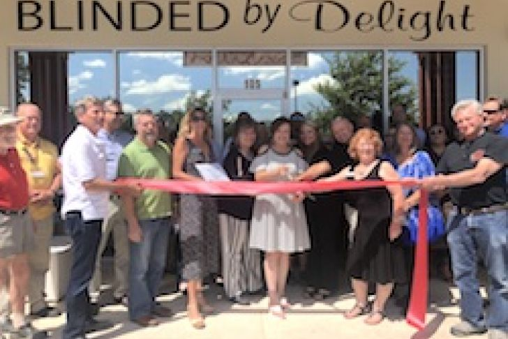 Blinded by Delight Ribbon Cutting Photo