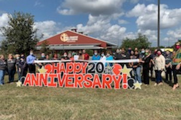 Hill Country Daily Bread Ministries' 20 Year Anniversary Ribbon Cutting Photo