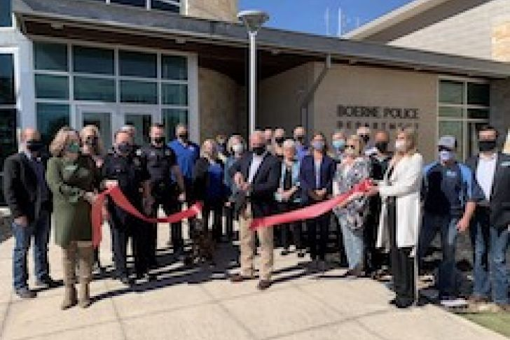 Boerne Police Foundation's 6th Year Anniversary Ribbon Cutting Photo