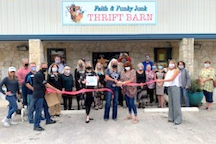 Faith & Funky Junk Ribbon Cutting Photo