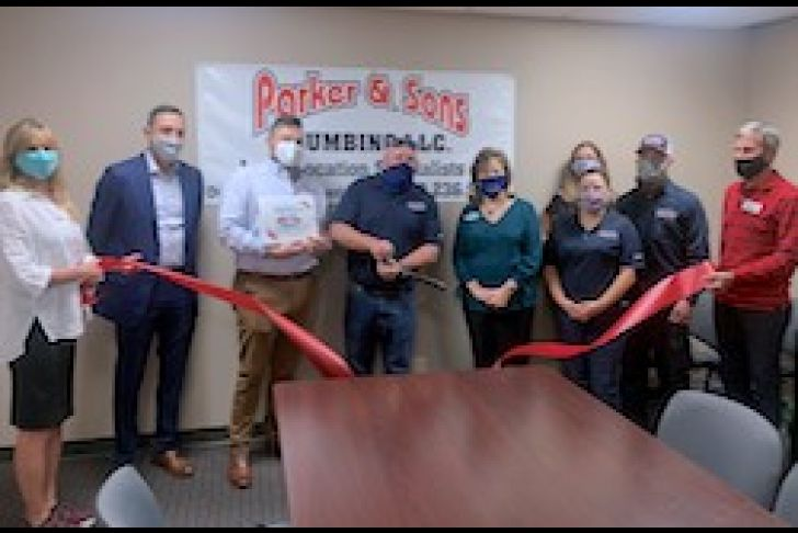 Parker & Sons Plumbing LLC Ribbon Cutting Photo