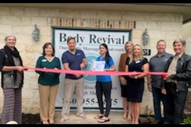Body Revival Massage Ribbon Cutting Photo